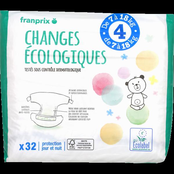 Photo Couches bébé écologiques taille 4 franprix