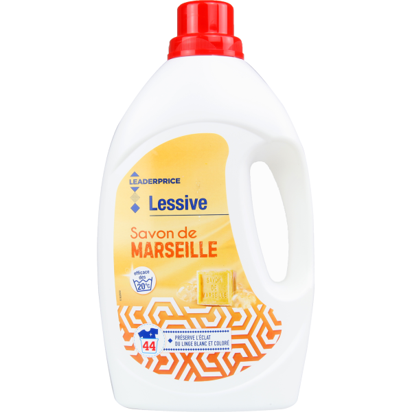 Photo Lessive Savon de Marseille Leader price