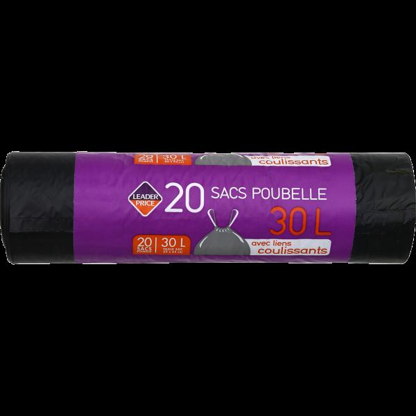 Photo Sac poubelle noir Leader price