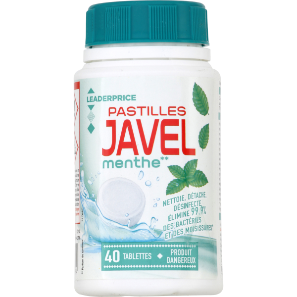 Photo Pastilles javel menthe  Leader price