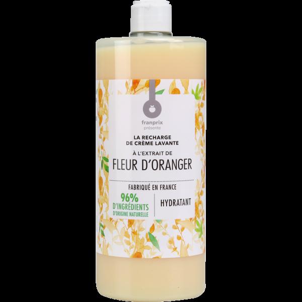 Photo Recharge crème lavante fleur d'oranger  franprix