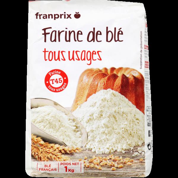 Photo Farine de blé T45 franprix