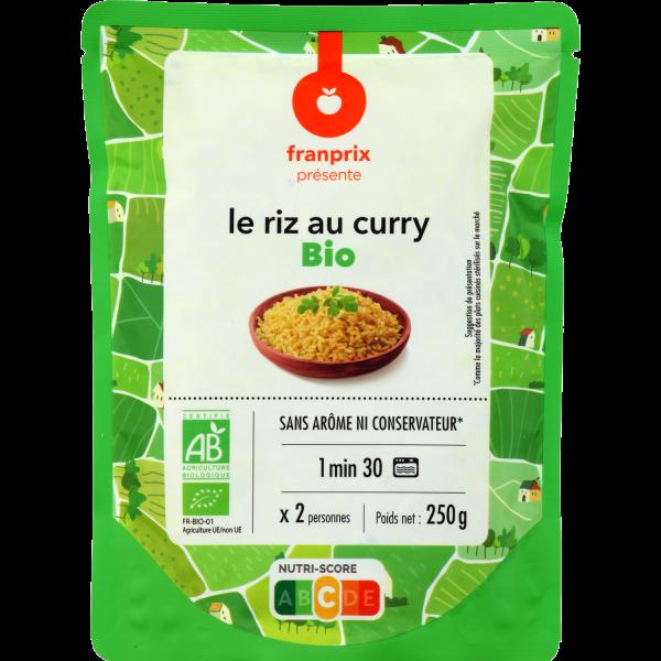Photo Riz au curry bio franprix