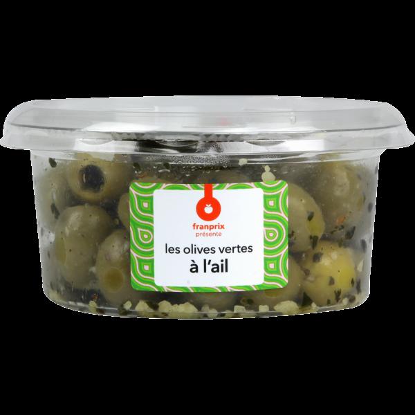 Photo Olives vertes à l'ail franprix