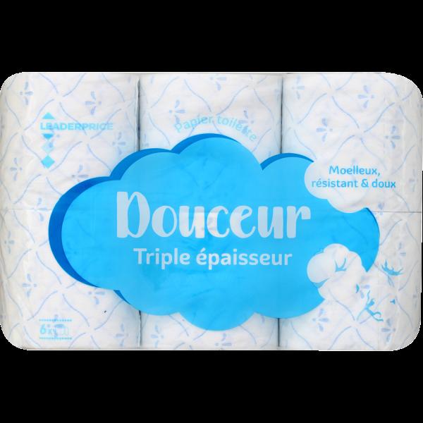 Photo Papier toilette douceur triple épaisseur Leader price