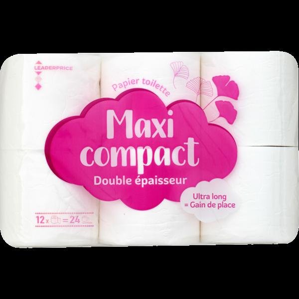 Photo Papier toilette maxi compact blanc Leader price