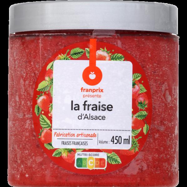Photo Sorbet à la fraise d'alsace franprix