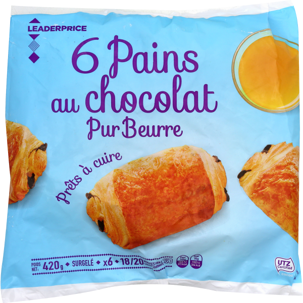 Photo Pains au chocolat pur beurre Leader price