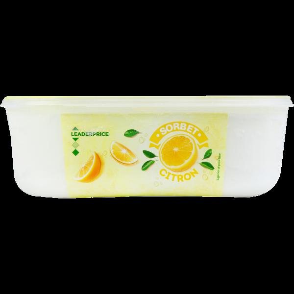 Photo Sorbet citron  Leader price