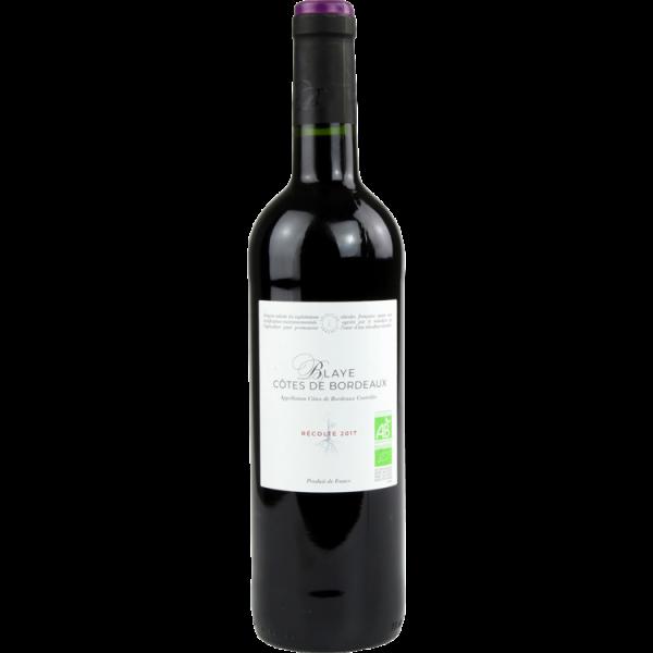 Photo Vin rouge bio franprix