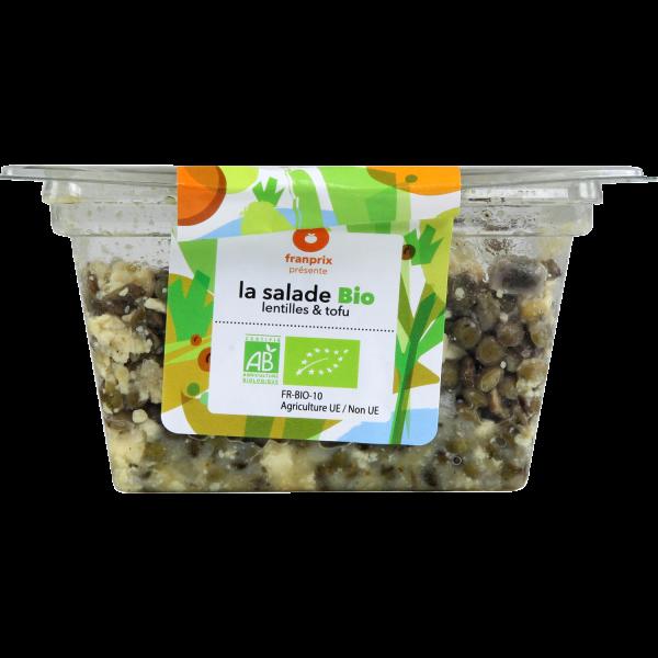 Photo Salade lentille tofu bio franprix