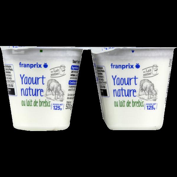 Photo Yaourt nature lait de brebis franprix