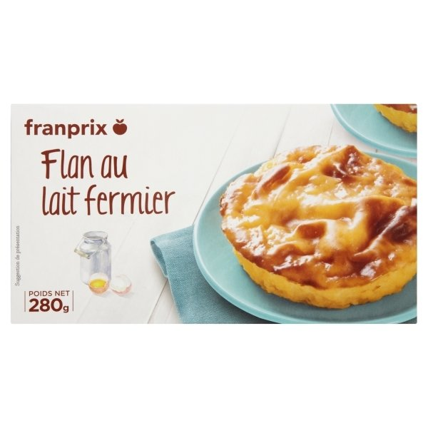 Photo Flan nature au lait fermier franprix