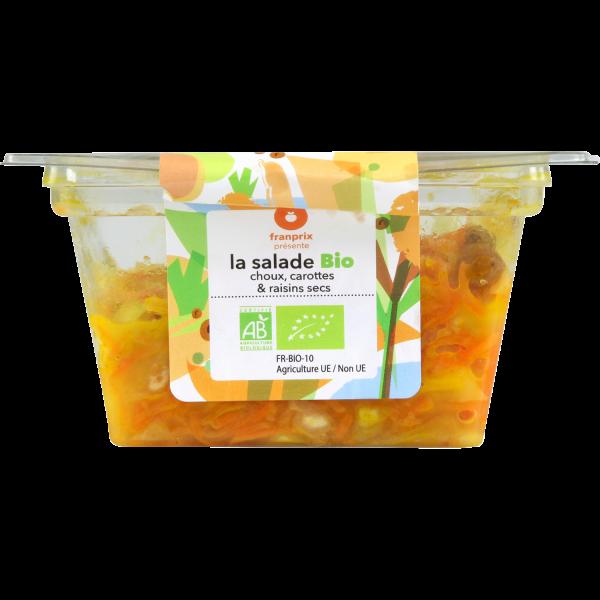 Photo Salade de choux et carottes bio franprix