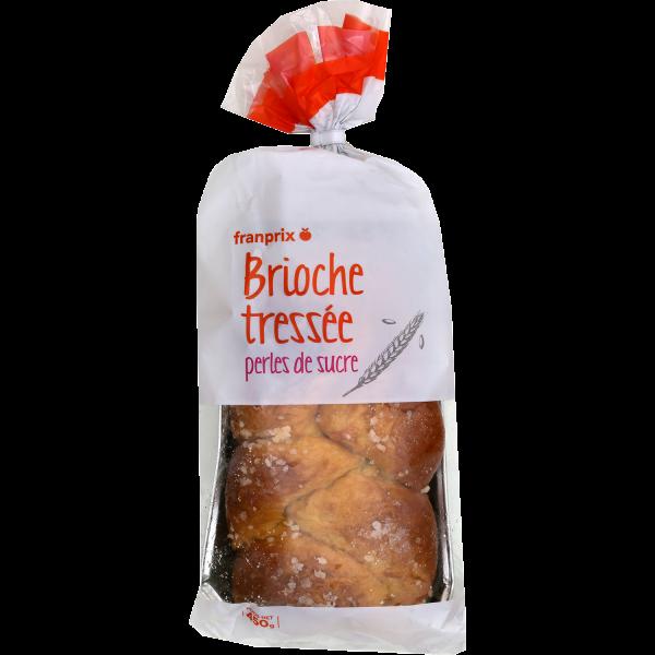 Photo Brioche tressée perles de sucre franprix