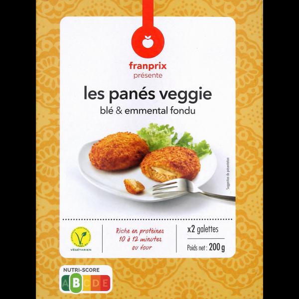 Photo Pané vegan blé et emmental fondu franprix