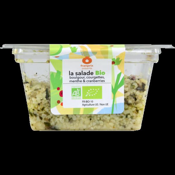 Photo Salade boulgour courgettes bio franprix