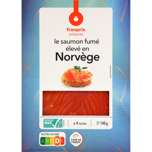 Photo Saumon fumé de norvège franprix