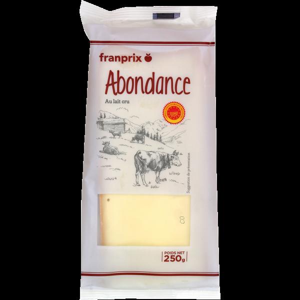 Photo Abondance lait cru franprix