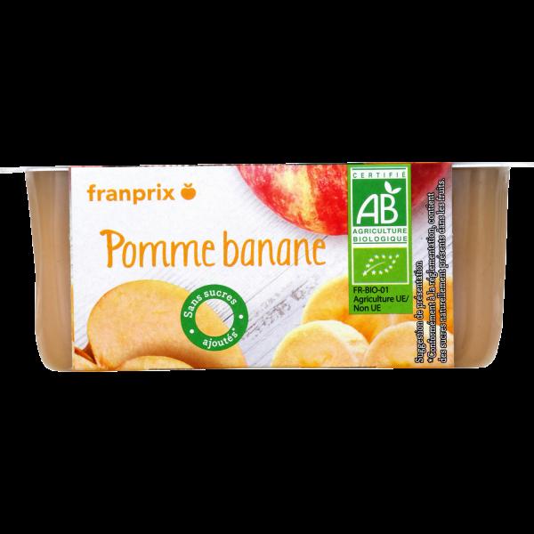 Photo Compote pomme banane bio franprix