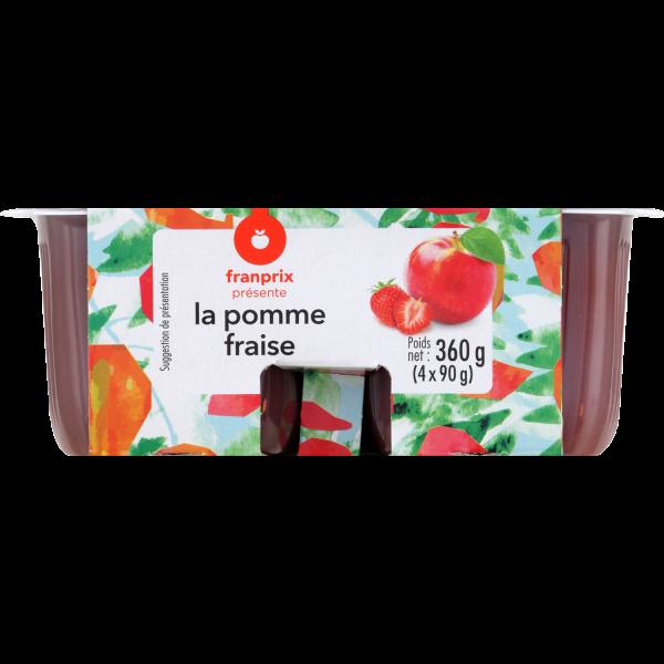 Photo Compote pomme fraise franprix