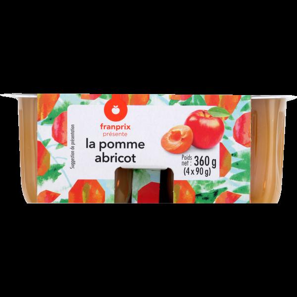 Photo Compote pomme abricot franprix