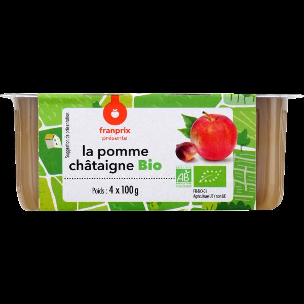 Photo Compote pomme châtaigne franprix