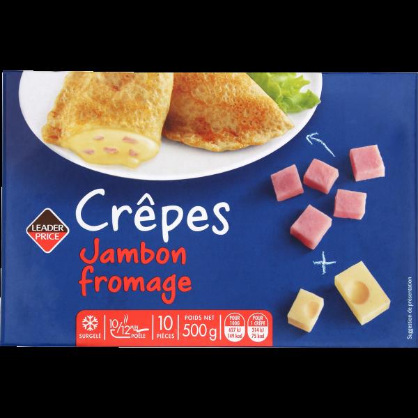 Photo Crêpes jambon fromage Leader price