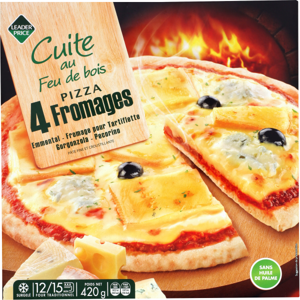 Photo Pizza 4 fromages Leader price