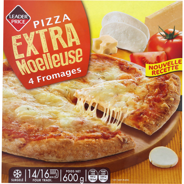 Photo Pizza moëlleuse fromage Leader price