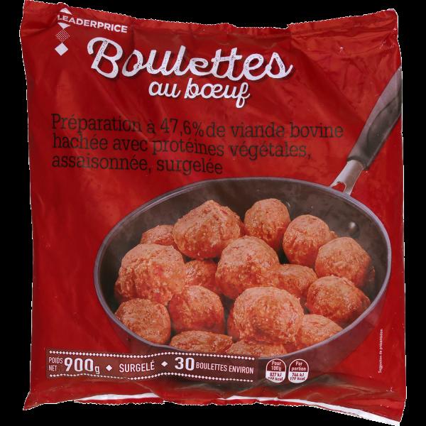 Photo Boulettes au bœuf  Leader price