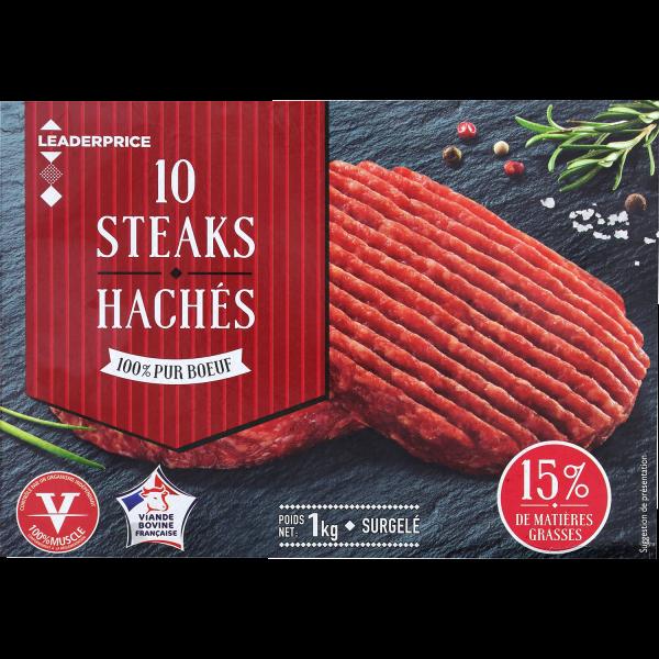 Photo Steaks hachés Leader price