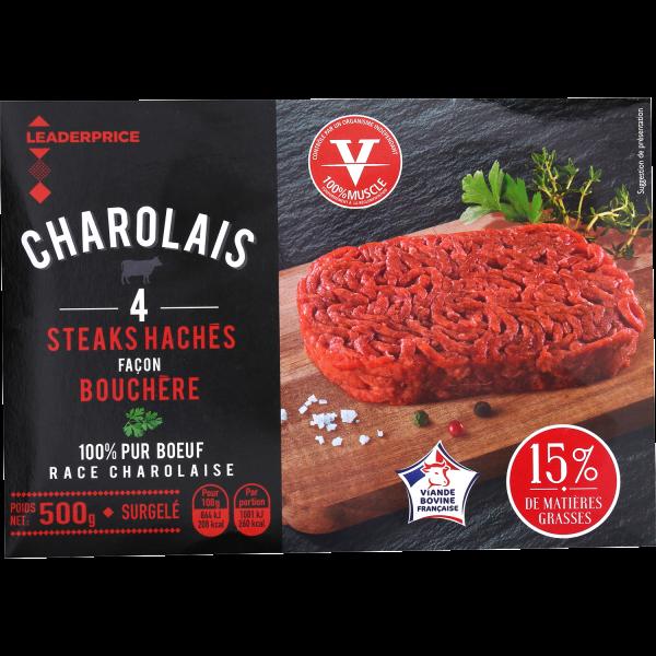 Photo Steaks hachés façon bouchère Leader price