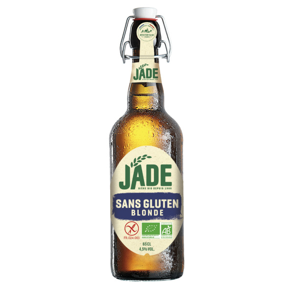 Photo Bière sans gluten bio JADE