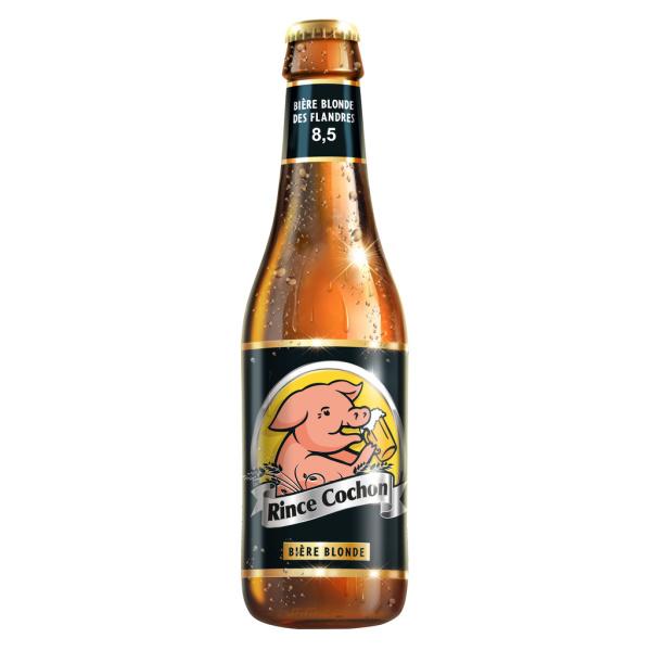 Photo Bière blonde des flandres Rince cochon