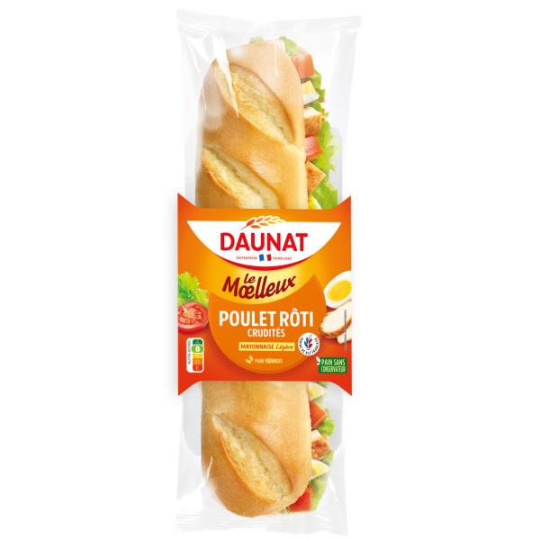 Photo Sandwich viennois poulet crudités Daunat