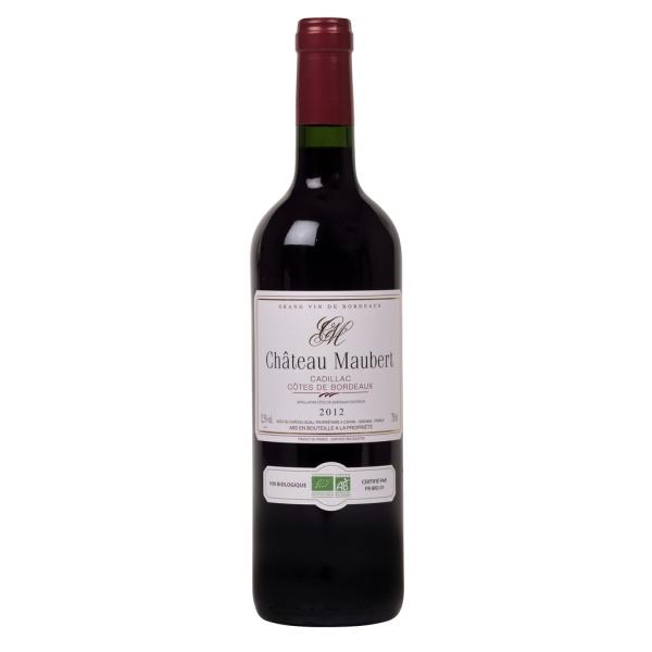 Photo Vin rouge côtes de bordeaux bio NoBrand