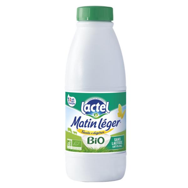 Photo Lait écrémé bio MATIN LEGER DE LACTEL