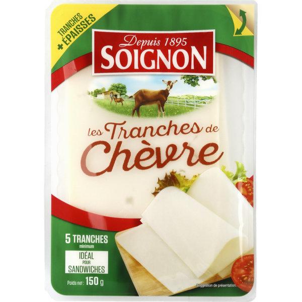 Photo Tranches de fromages de chèvre Soignon