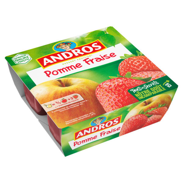 Photo Compotes pomme fraise ANDROS