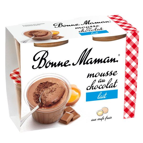 Photo Mousse chocolat au lait BONNE MAMAN