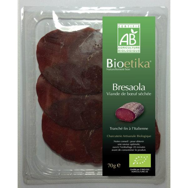 Photo Bresaola viande de boeuf séchée bio Bioetika