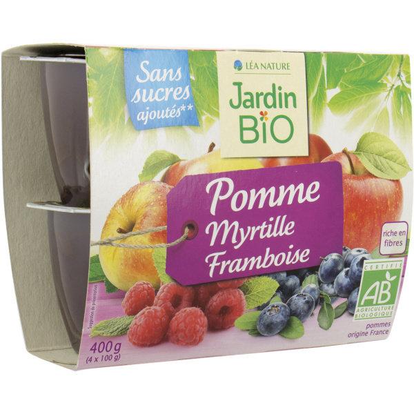 Photo Biofruits pomme myrtille framboise Jardin Bio