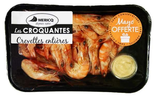 Photo Crevettes entières croquantes Mericq