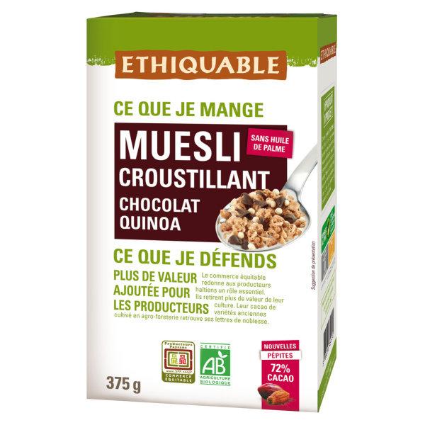 Photo Muesli croustillant chocolat bio Ethiquable