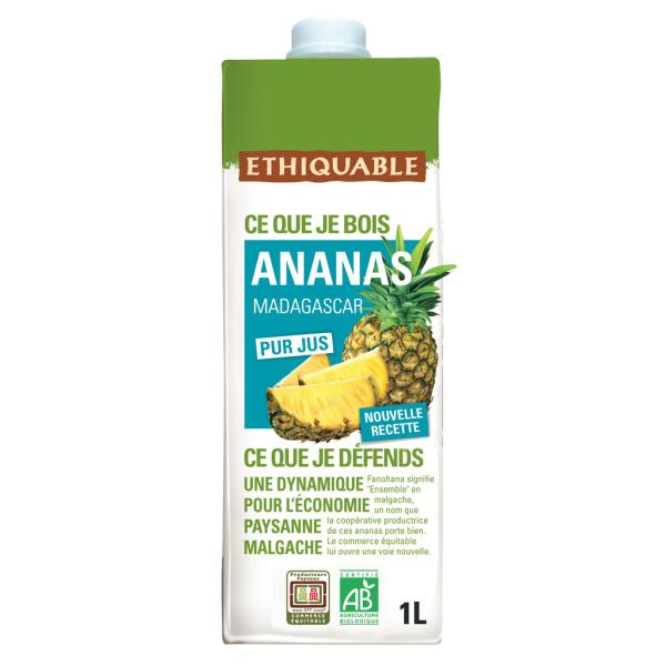 Photo Pur jus d'ananas madagascar bio Ethiquable