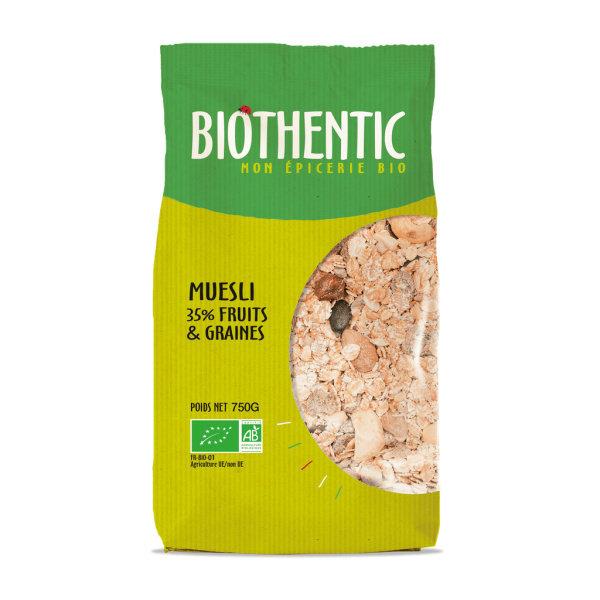 Photo Muesli 35% de fruits et graines bio Biothentic