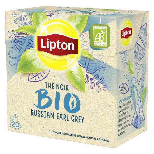 Photo Thé noir bergamote agrumes bio Lipton